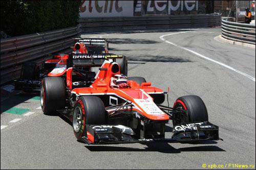 Макс Чилтон и Жюль Бьянки на прошлогоднем Гран При Монако