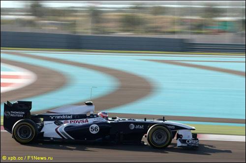 Мирко Бортолотти на молодёжных тестах Ф1 в Абу-Даби