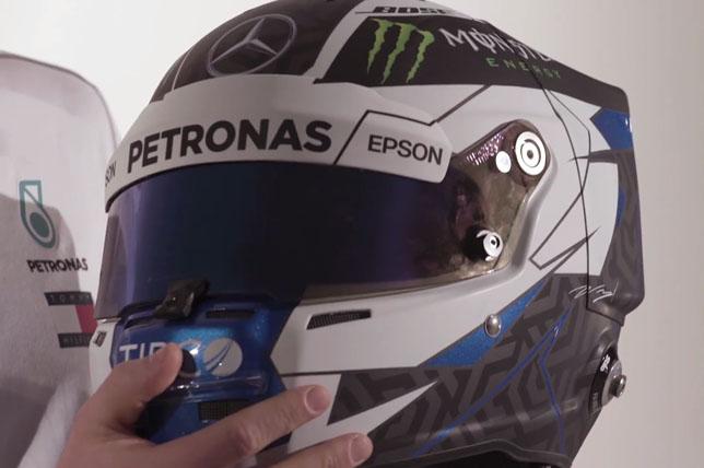 Новый дизайн шлема Валттери Боттаса