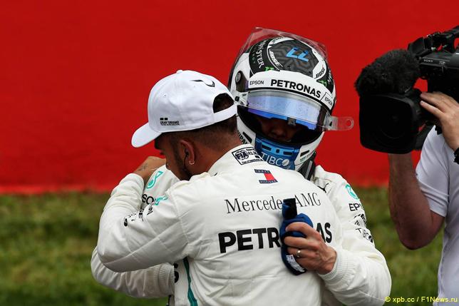 Гран При Испании. Гонщики Mercedes