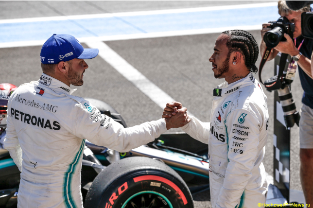 Гран При Франции. Гонщики Mercedes