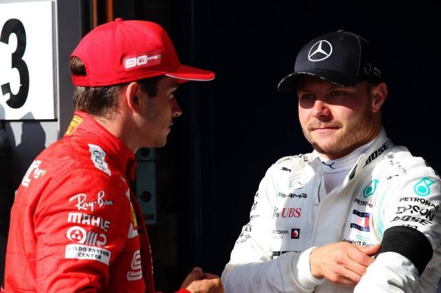 Валттери Боттас и победитель Гран При Бельгии Шарль Леклер