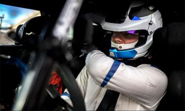 Валттери Боттас за рулём Citroen DS3 WRC