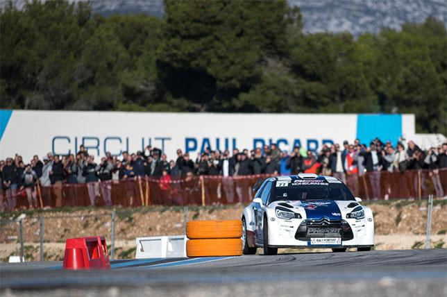 Валттери Боттас за рулём Citroen DS3 WRC на старте очередного спецучастка ралли, фото Circuit Paul Ricard