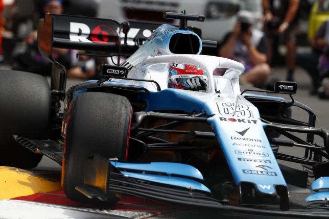 Джордж Расселл на трассе Гран При Монако, 2019 год