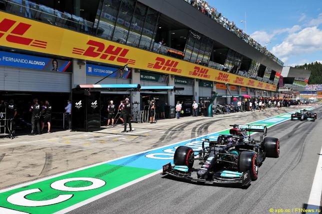 Гран При Австрии. Гонщики Mercedes