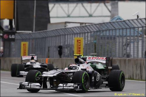 Гонщики Williams в Канаде