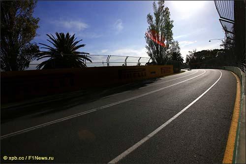 Мельбурнский Альберт-парк, тренировка в пятницу, 2014 год