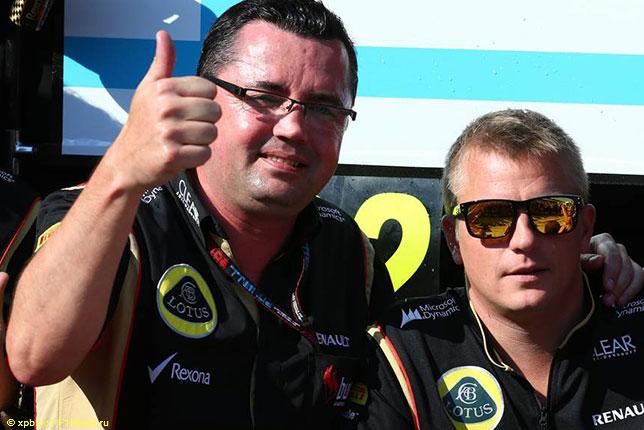 Эрик Булье и Кими Райкконен, Гран При Венгрии 2013 года