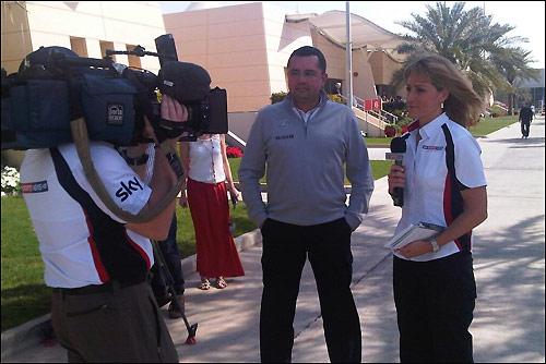 Эрик Булье даёт интервью Sky Sports