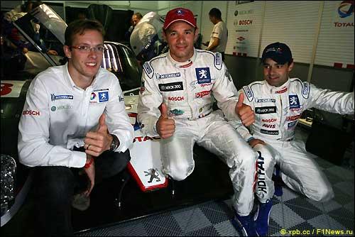 Себастьен Бурдэ, Стефан Сарразан и Педро Лами. Peugeot. Ле Ман'07