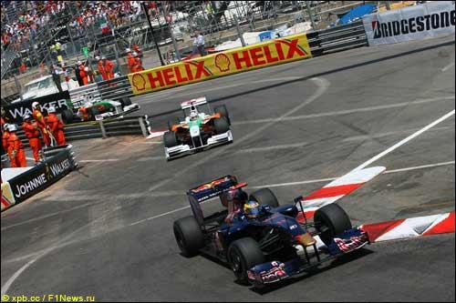 Себастьен Бурдэ на трассе Гран При Монако