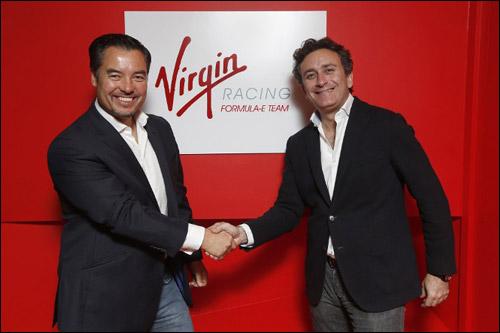 Руководитель Virgin Racing Алекс Тай и промоутер Формулы E Алехандро Агаг