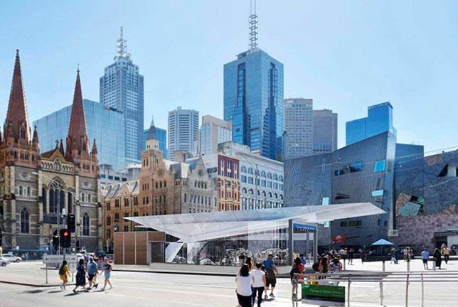 Площадь Федерации в Мельбурне, где пройдёт церемони открытия сезона
