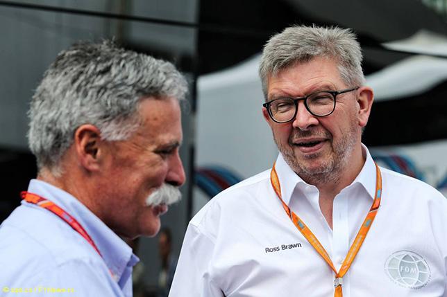 Росс Браун и Чейз Кэри, исполнительный директор Формулы 1