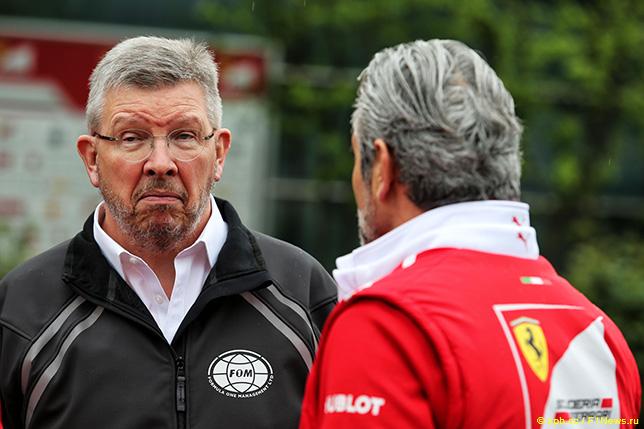 Росс Браун и Маурицио Арривабене, руководитель команды Ferrari