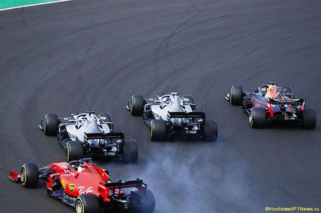 Один из моментов старта Гран При Венгрии