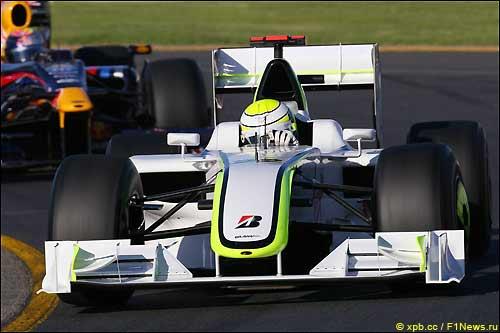 Дженсон Баттон на трассе Гран При Австралии