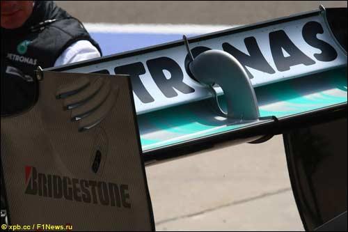 Новое заднее крыло Mercedes GP