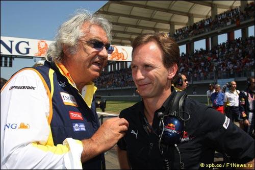 Флавио Бриаторе и Кристиан Хорнер, 2009 год