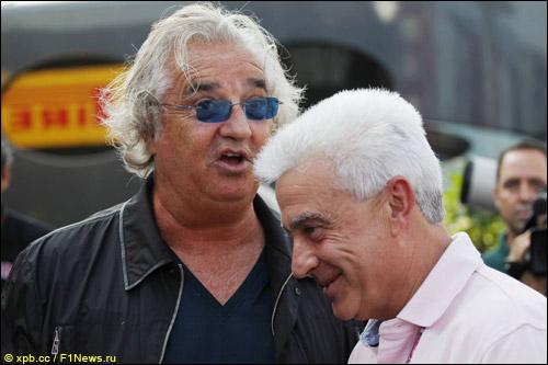 Флавио Бриаторе и Хосе Луис Алонсо, отец гонщика