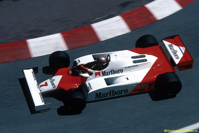 Джон Уотсон на трассе Гран При Монако за рулём McLaren MP4/1, 1981 год