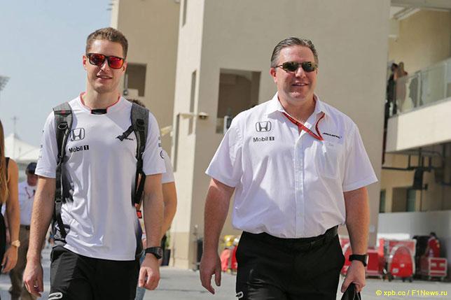 Зак Браун (справа) и Стоффель Вандорн