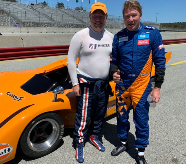 Зак Браун и Мика Хаккинен у McLaren M8D/3 Can-Am