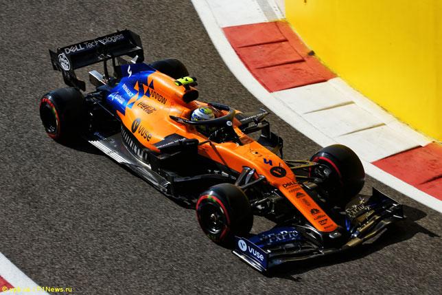Ландо Норрис за рулём McLaren