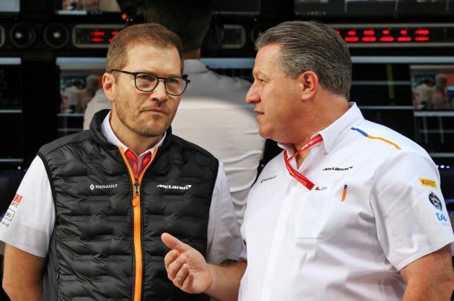 Зак Браун (справа) и Андреас Зайдль