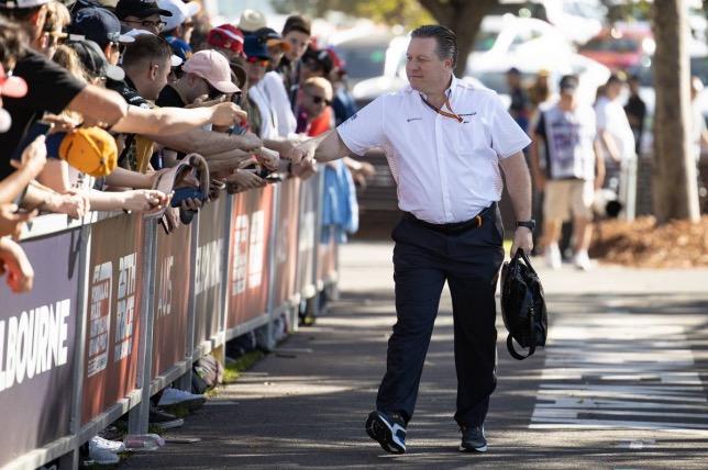 Зак Браун на встрече с болельщиками в Австралии