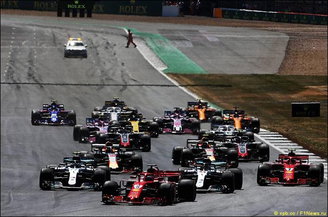 Старт Гран При Великобритании 2018