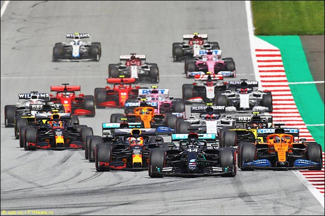 Старт Гран При Штирии 2020