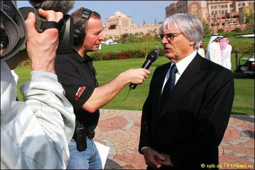 Мартин Брандл берёт интервью у Берни Экклстоуна