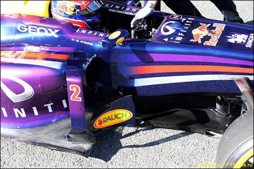 Номер на машине Red Bull Racing