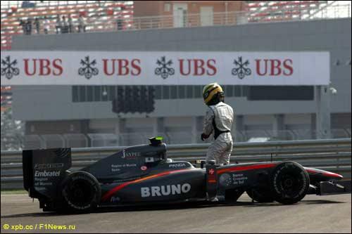 Проблемы Бруно Сенны в первый день Гран При Южной Кореи