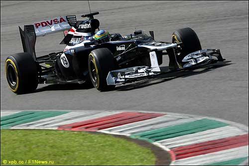 Бруно Сенна за рулем Williams FW34 на тестах в Муджелло