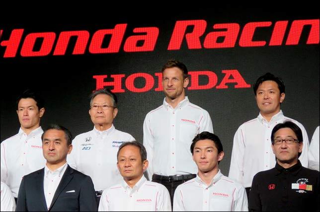 Дженсон Баттон на презентации Honda