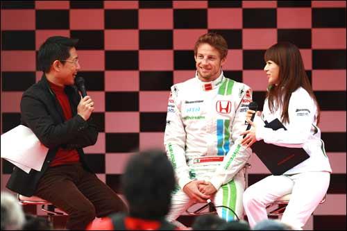 Дженсон Баттон на Honda Racing Thanks Day