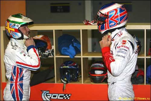 Энди Приоль и Дженсон Баттон. Гонка Чемпионов 2008 года