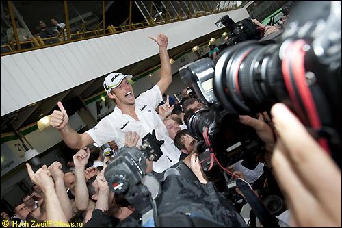 Дженсон Баттон после финиша Гран При Бразилии
