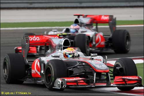 Льюис Хэмилтон и Дженсон Баттон на Гран При Турции