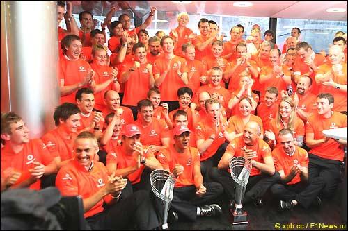 В McLaren празднуют победу
