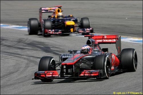 Дженсон Баттон и Себастьян Феттель на Гран При Германии 2012