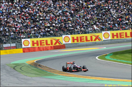 Дженсон Баттон в Гран При Бельгии 2012