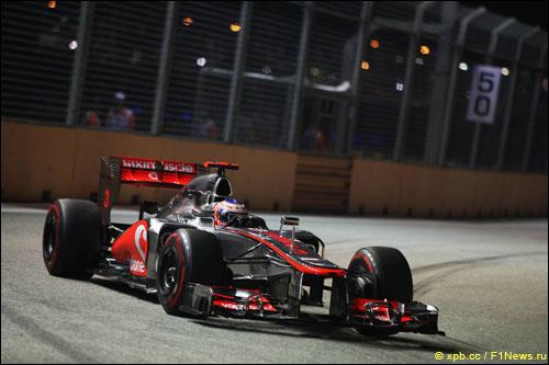 Дженсон Баттон в Гран При Сингапура 2012