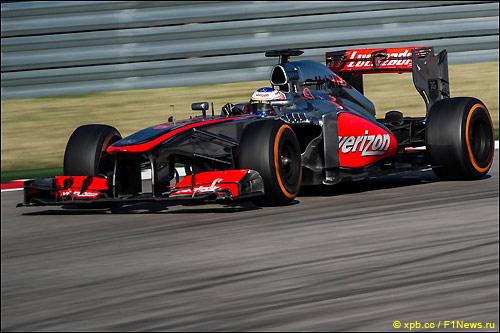 Дженсон Баттон на трассе Гран При США