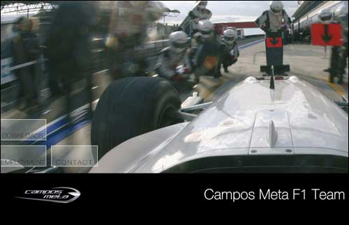 Сайт команды Campos Meta 1