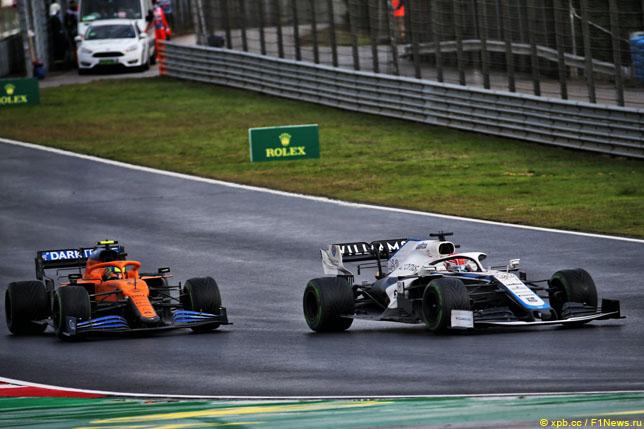 Борьба Ландо Норриса и Джорджа Расселла на Гран При Турции, 2020 год