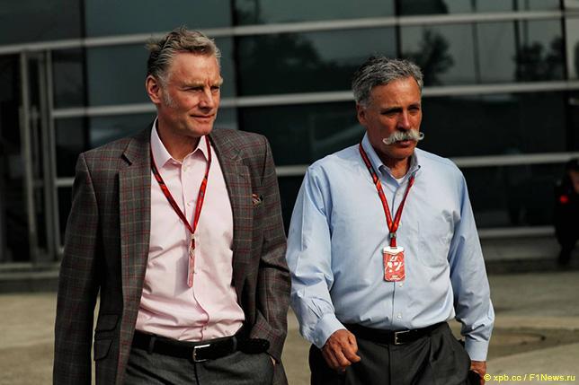 Чейз Кэри, исполнительный директор Формулы 1 (справа) и Шон Братчес, коммерческий директор Формулы 1